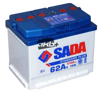 Аккумулятор sada standard plus 12v 62ah (6CT-62A3SP)